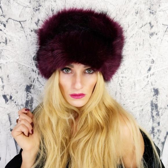 2c3ad8a7fec 🎄🎁RUSSIAN FAUX FUR HAT (burgundy)
