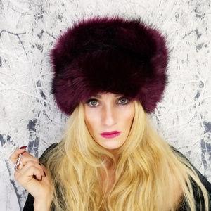 f081beb5add MODA ME COUTURE Accessories - 🎄🎁RUSSIAN FAUX FUR HAT (burgundy)