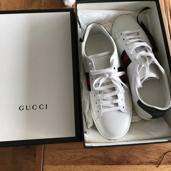1be12bbd877 Gucci Shoes - Authentic Gucci Ace Leather Sneaker
