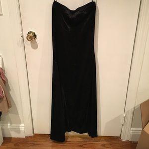 ASOS black Velvet mermaid maxi skirt size S