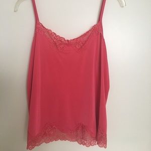Lane Bryant coral lace camisole 18/20