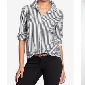 Madewell Stripped Button Down Shirt