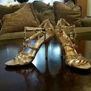NEW Fergie bronze strappy heels