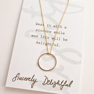 Dainty Gold Open Circle Necklace