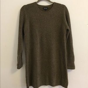 NWT Topshop Olive Sweater Dress