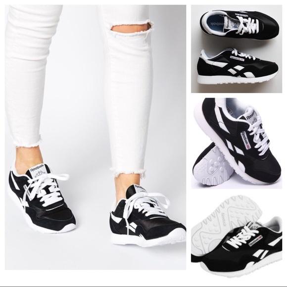 0daafaf21016 Urban Outfitter Reebok Black Classic Nylon Sneaker