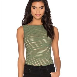 Bailey 44 Pangea Sleeveless Tank with mesh olive