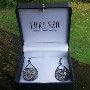 Lorenzo Sterling silver drop earrings