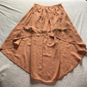 Firever21 high-low peachy skirt.