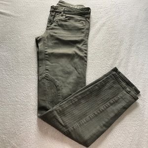 GAP gray motorcycle skinny jeans.