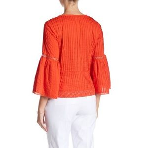 Nanette Lepore Tops - NANETTE nanette lepore Pintuck Bell Sleeve Blouse