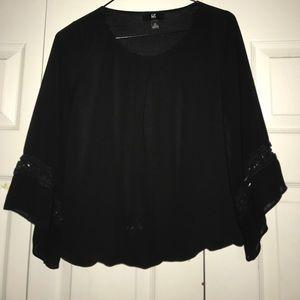 Tops - Elegant black sheer top