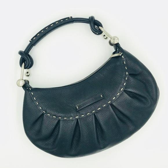 c7821c3ec9 BCBG leather hobo bag w silver hardware …