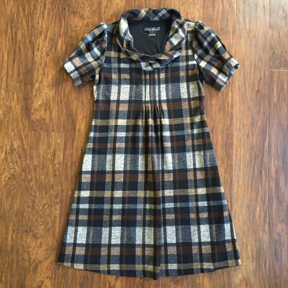 8656a4f13dbc Jessica Howard Dresses & Skirts - Jessica Howard Brown Plaid Dress Size 8  Sleeves