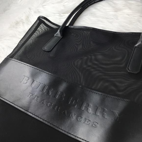 9a53958ec690 Burberry Handbags - Authentic New Burberry Fragrance bag mesh leather