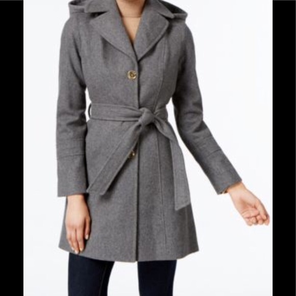 KORS Michael Kors Jackets & Blazers - KORS Michael Kors Hooded Wool Coat