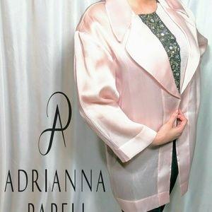 NWT ! Adrianna Papell pink silk jacket