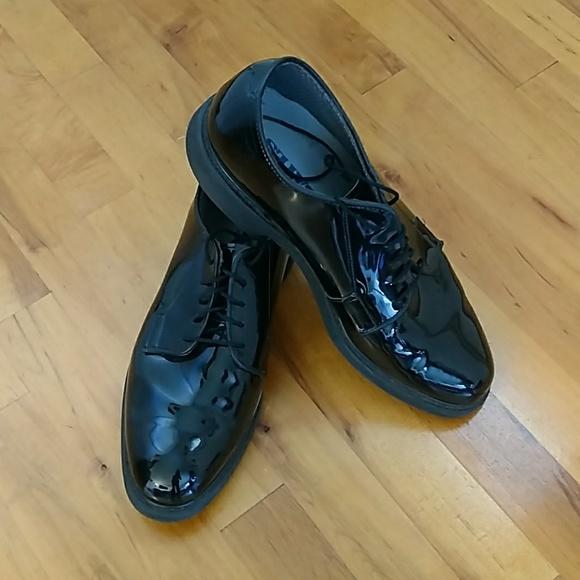 Bates Men's Military Corfram Shoes