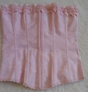 Fredrick's of Hollywood Pink Lace-Up Corset