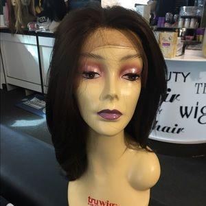 Accessories - Swisslace Lacefront wig FREE Part medium brown.