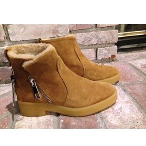 Zara Brown Suede Winter Boots size 38-39