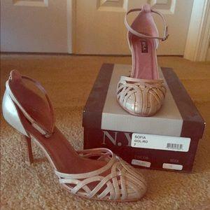 Lattice Leather Heel