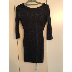 Topshop size 2 black long sleeve dress