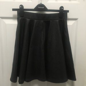 TOPSHOP Faux Leather Skater Skirt -SZ 4