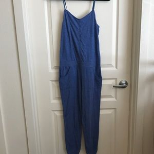RVCA stretchy comfy blue jumpsuit