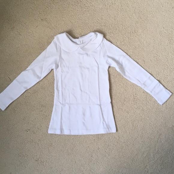 66e81382a Leveret Shirts & Tops | Girls Peter Pan Collar Long Sleeve Tee Nwot ...