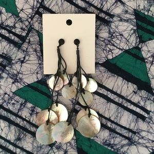 H&M Shell long dangle earrings (shoulder length)