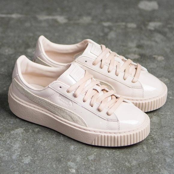 402312d8a4c 🚨FC🚨Puma Basket Platform Patent Sneakers. M 59d91a6f5c12f8959905665b