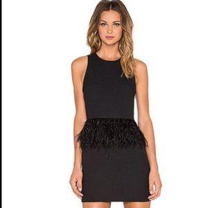 NWT Endless Rose Black Feather Dress
