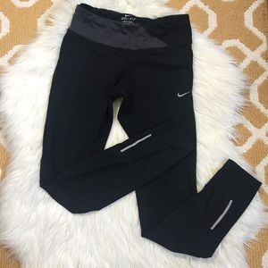 black nike running pants size XS