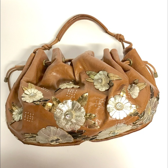 2a5ae5ad2ee Cole Haan Handbags - Cole Haan G Series leather flower appliqué purse