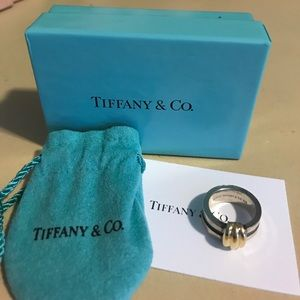 Jewelry - Tiffany & Co. sterling and 18k Barlink ring
