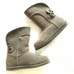 EMU Charlotte Waterproof Suede Shearling Boot