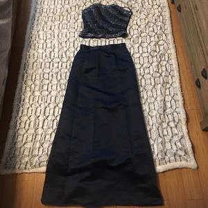 Dresses & Skirts - Navy blue two piece dress
