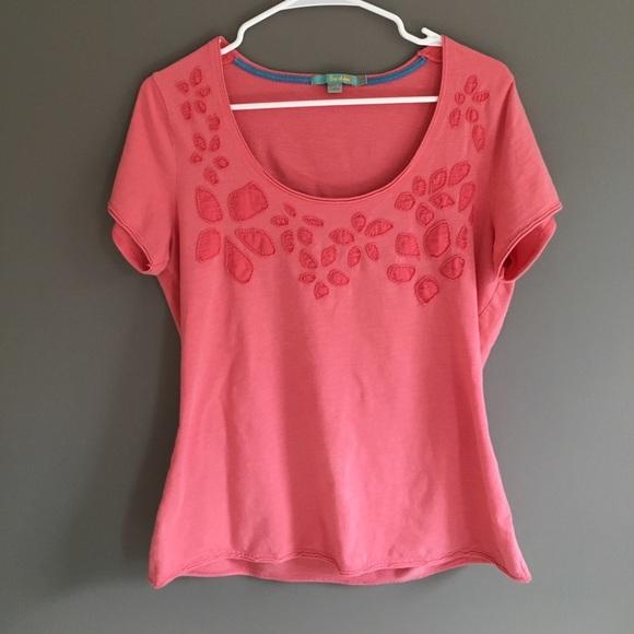 0985bbc674d Boden Tops | Womens Coral T Shirt | Poshmark