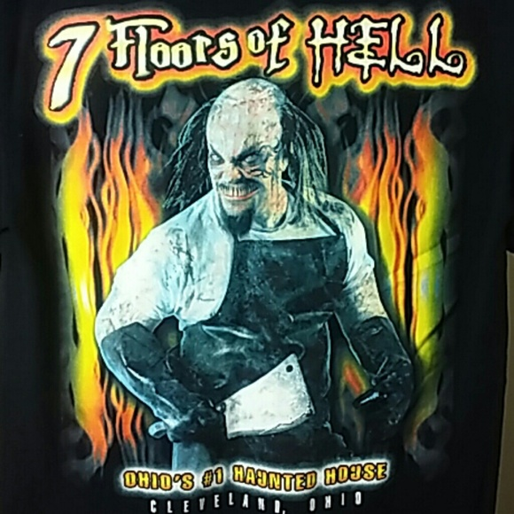 Vintage Shirts Cleveland 7 Floors Of Hell Halloween Shirt S