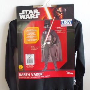 New Disney Star Wars Darth Vader Costume Youth Boy