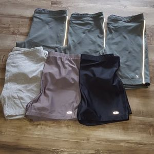 Bundle of workout spandex shorts