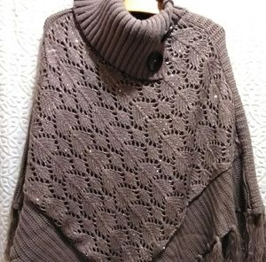 Sweaters - Brand new Fringed poncho