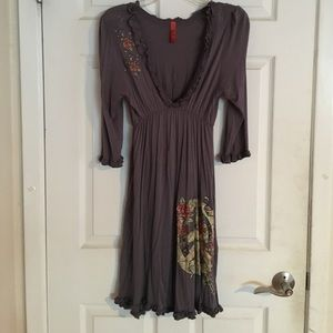 Dresses & Skirts - Gray knit dress by Rustic West.