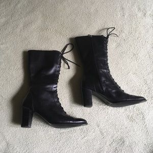 Etienne Aigner Real Black Leather Boots