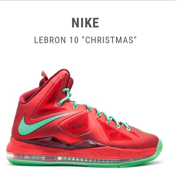 Lebron Christmas 10.Lebron 10 Christmas