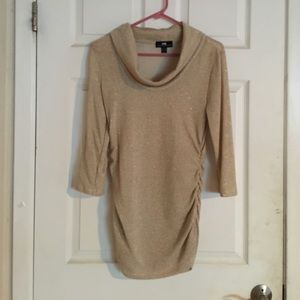 Sweaters - Sheer gold sweater