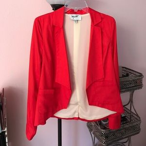 Coral/red Libby weight Nordstrom blazer