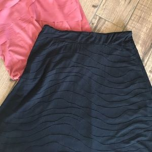 Dresses & Skirts - Black Ribbed A-Line Skirt M