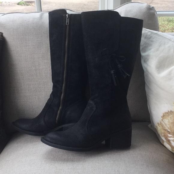 Born Black Suede Boots   Poshmark